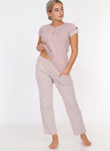 Obje Pijama Takım Vizon